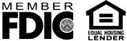 Member FDIC; Equal Housing Lender